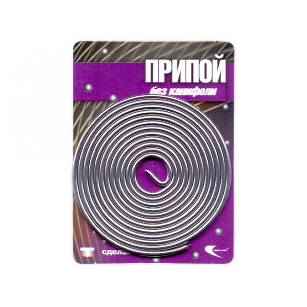 Припой ПОС-61 проволока, спираль ф1,5мм (длина 1м) (Векта) (30324)