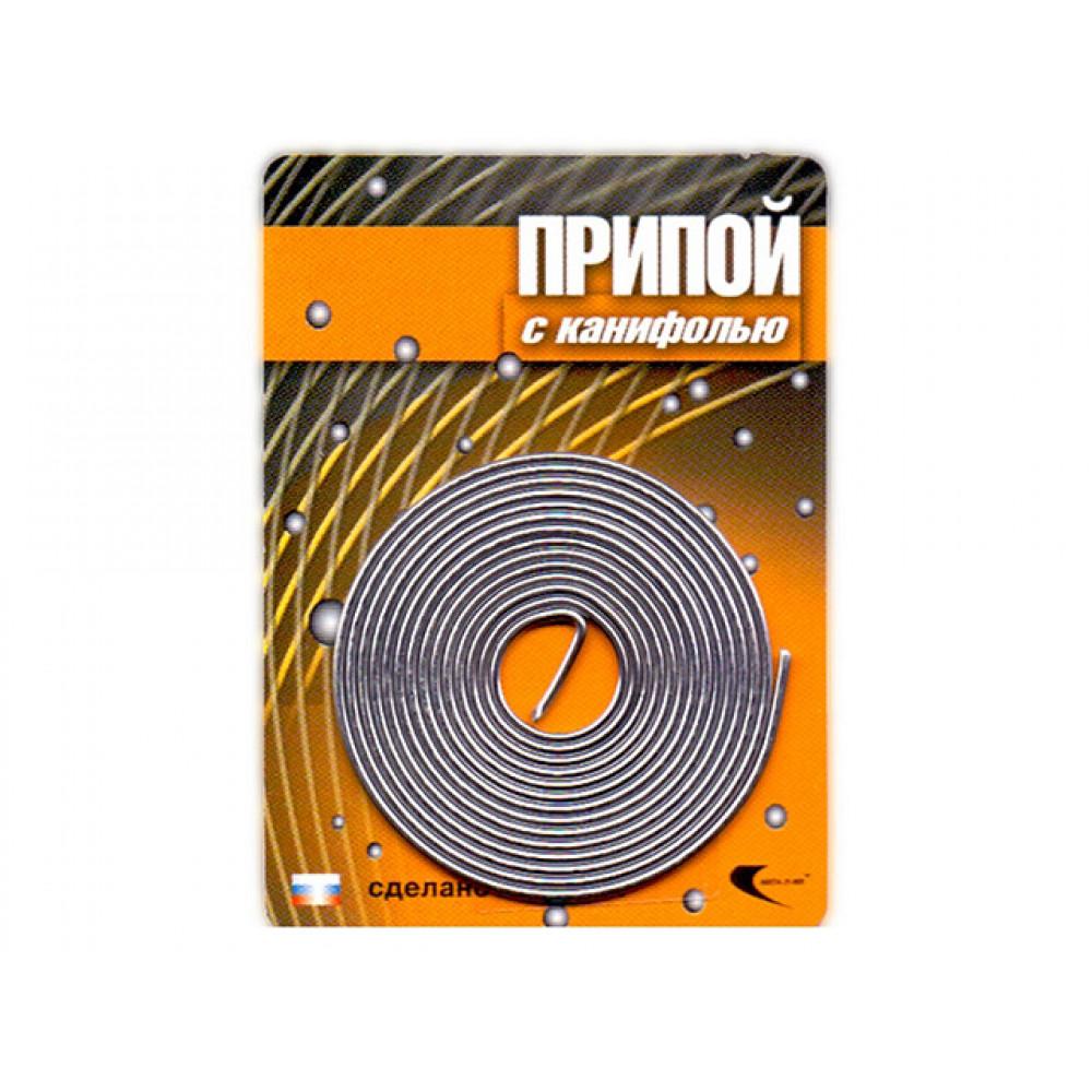 Припой ПОС 61 трубка, спираль ф1мм, с канифолью (длина 1м) (Векта) (30305)
