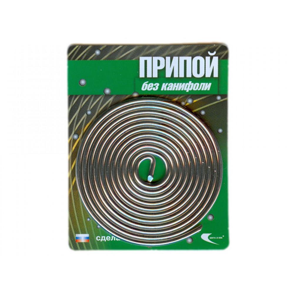 Припой ПОС 61 проволока, спираль ф2мм (длина 1м) (Векта) (30212)