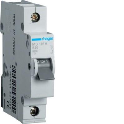 Выключатель автоматический Hager MB116A