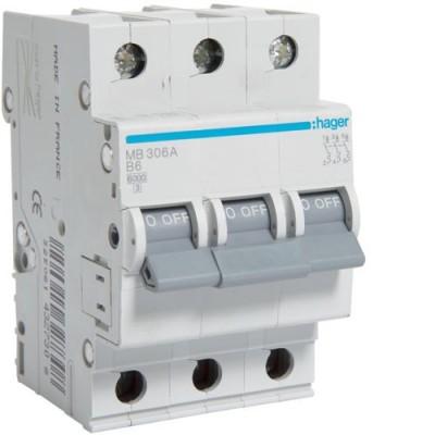 Выключатель автоматический Hager MB306A