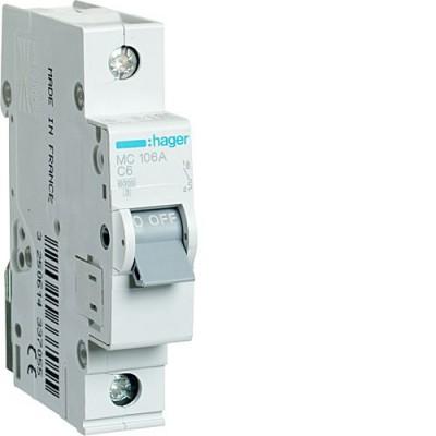 Выключатель автоматический Hager MC106A