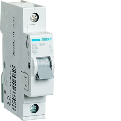Выключатель автоматический Hager MC116A