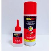 Суперклей KONEKT-50 двухкомпонентный (клей 50 г + отвердитель 200 мл)